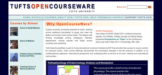 Tufts university opencourseware