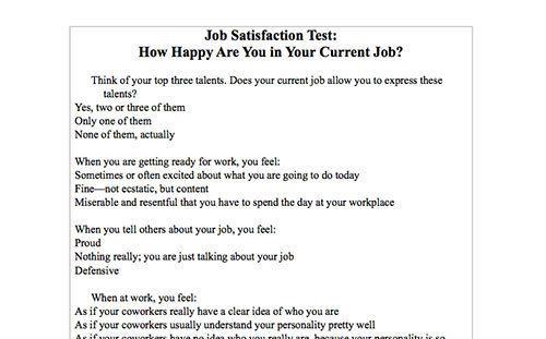 EyeOpening SelfAssessment Tests To Enhance Your Career