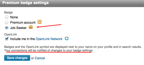 LinkedIn Badge Settings