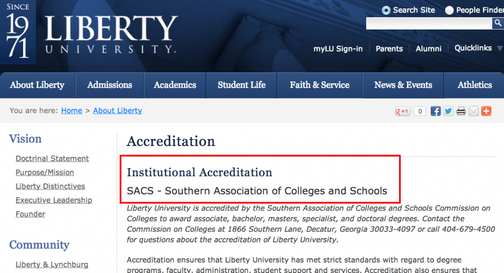Institutional Accreditation